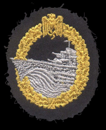 destroyer War Badge in cloth