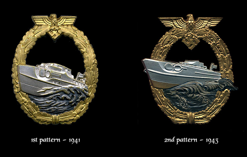 1st an 2nd pattern E-Boat badges