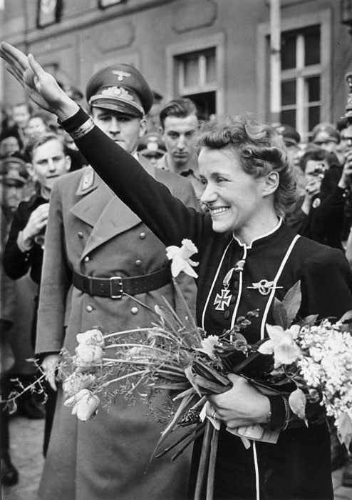 Hanna Reitsch after receiving the Iron Cross 2nd class