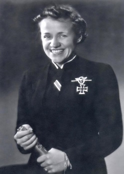 Hanna Reitsch wearing the Iron Cross 1st class