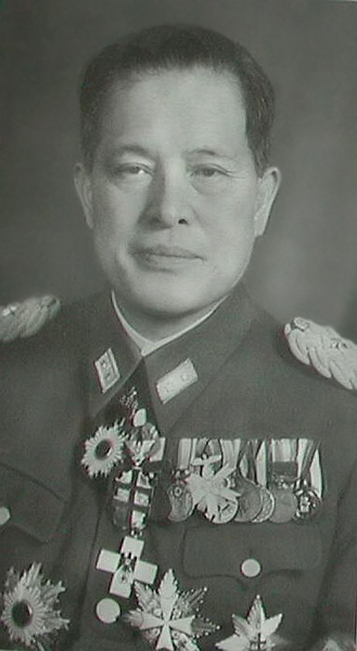 Hiroshi Ōshima, the Japanese Ambassador to Berlin with2nd class Olympic medal in wear