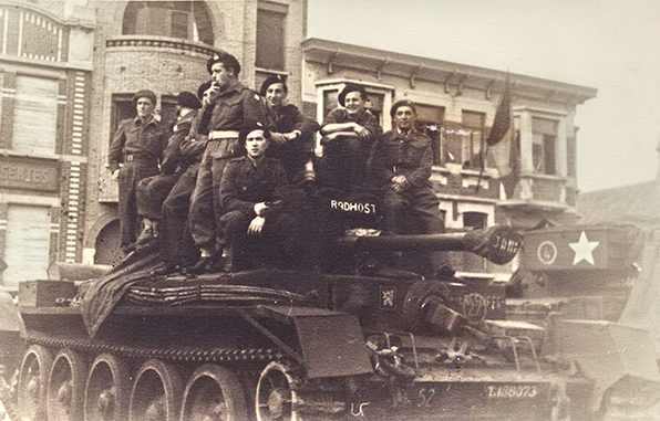 Czechoslovak soldiers near dunkirk just after the German surrender