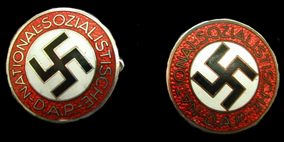 NSDAP party pins