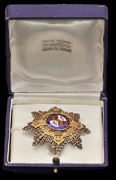 Cased Spanish War Cross