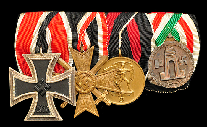 Parade bar with Italo-German campaign medal
