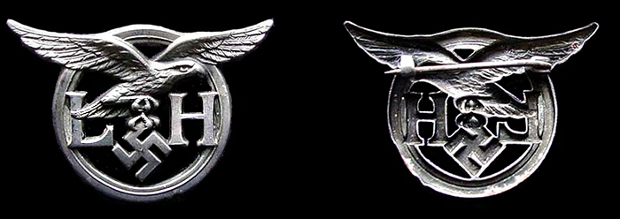 Auxiliary service brooch - Luftwaffe