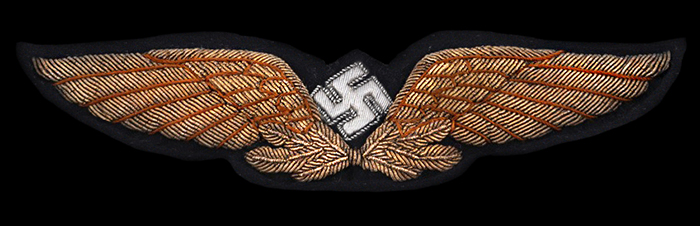 civil pilot's cap badge
