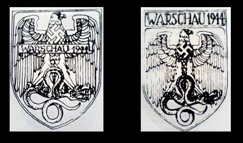 Warsaw Shield design drawings by Benno von Arent