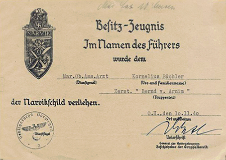 Document for the Narvik Shield