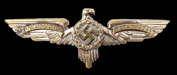 The official badge of the Fliegertreffen held in Berlin in 1934