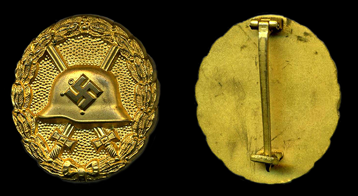 1939 1st pattern wound badge in gold