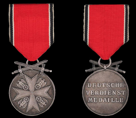 Medal of Merit - Silver with swords