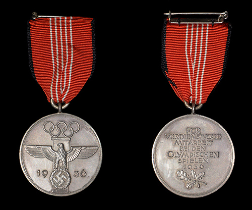 German Olympic Commemorative Service Medal