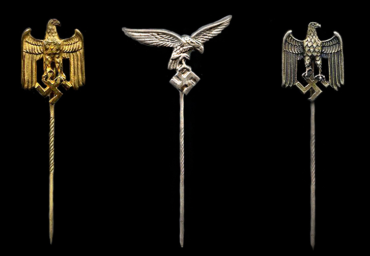 Wehrmacht personnel lapel pins
